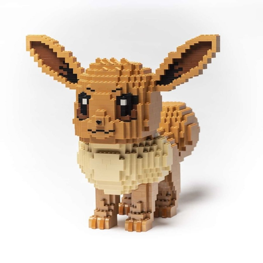 eevee a base de lego por Dave Holder