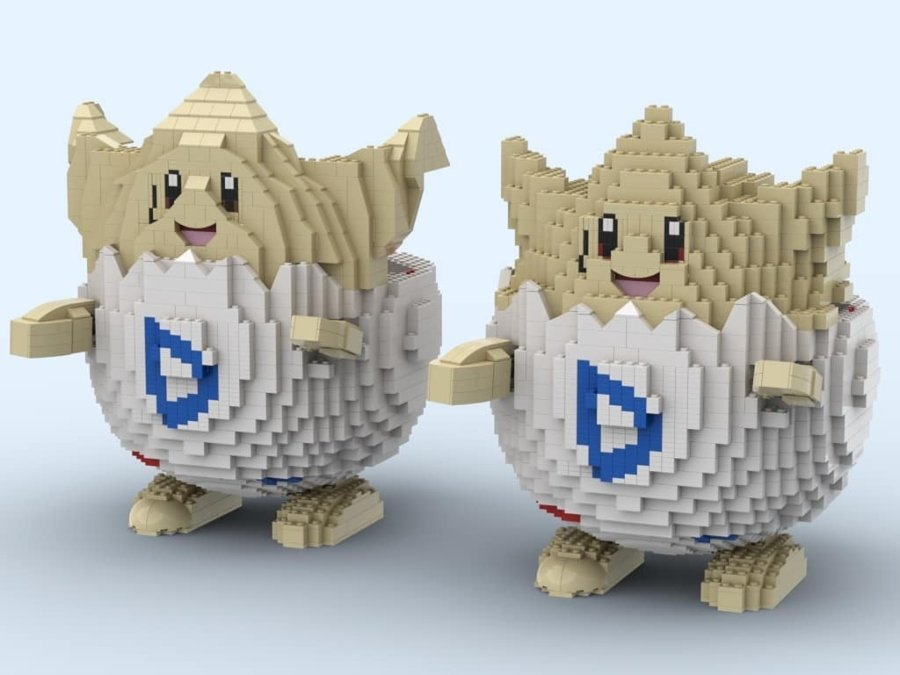 Togepi a base de lego por Dave Holder