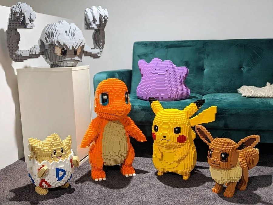 pokémon a base de lego por Dave Holder
