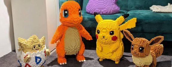 Dave Holder construye pokémones con piezas LEGO