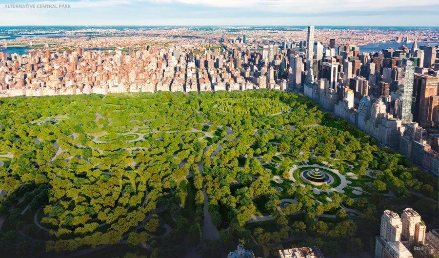 Vista aérea del Central Park