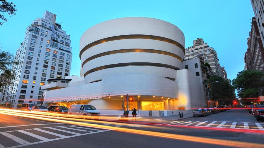 Fachada del  Solomon R. Guggenheim Museum