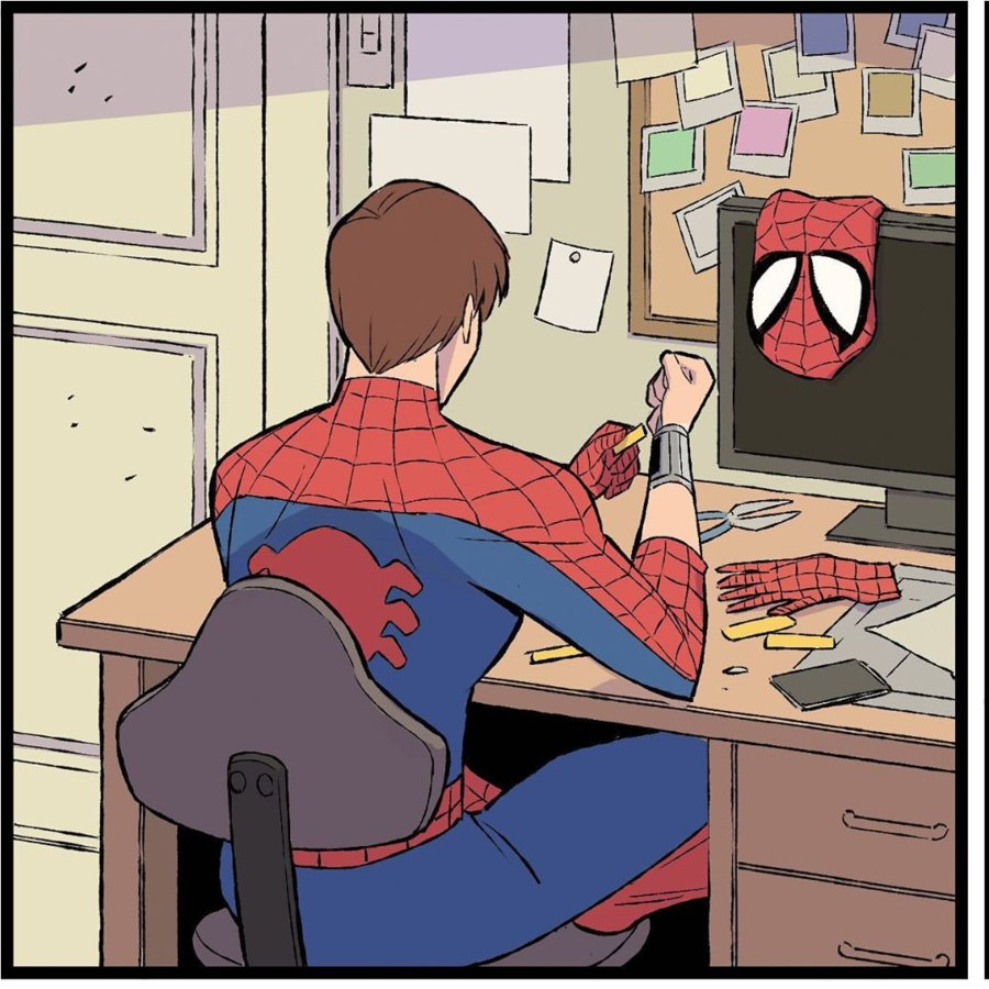 Spider man, en los comics de Heroes at Home de marvel