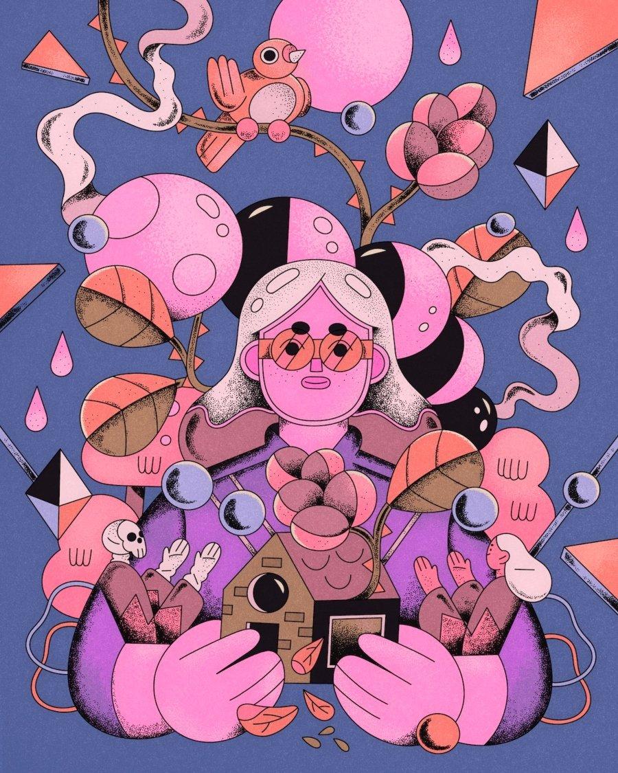Ilustración de una mujer por Valeria Álvarez