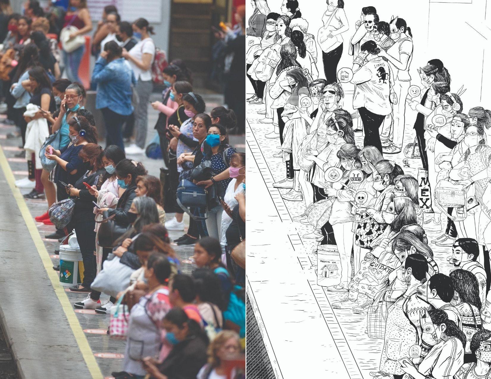 obras de Saner y Santiago Arau para la campaña Unidos Con Distancia