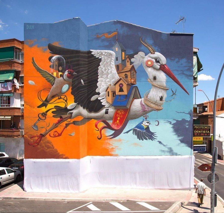 The murals for the month of July