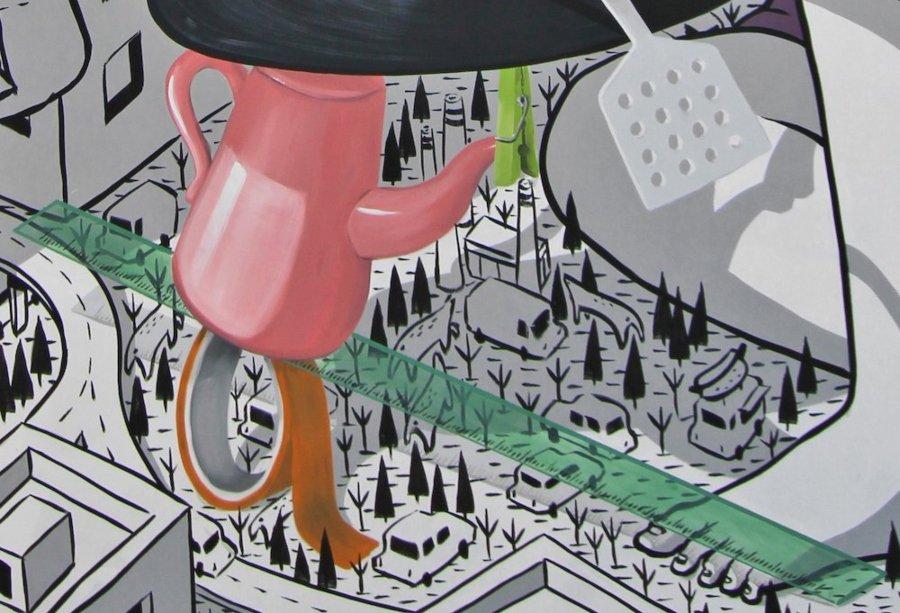 """Millo presentó su nuevo mural """"Ballance"""""""
