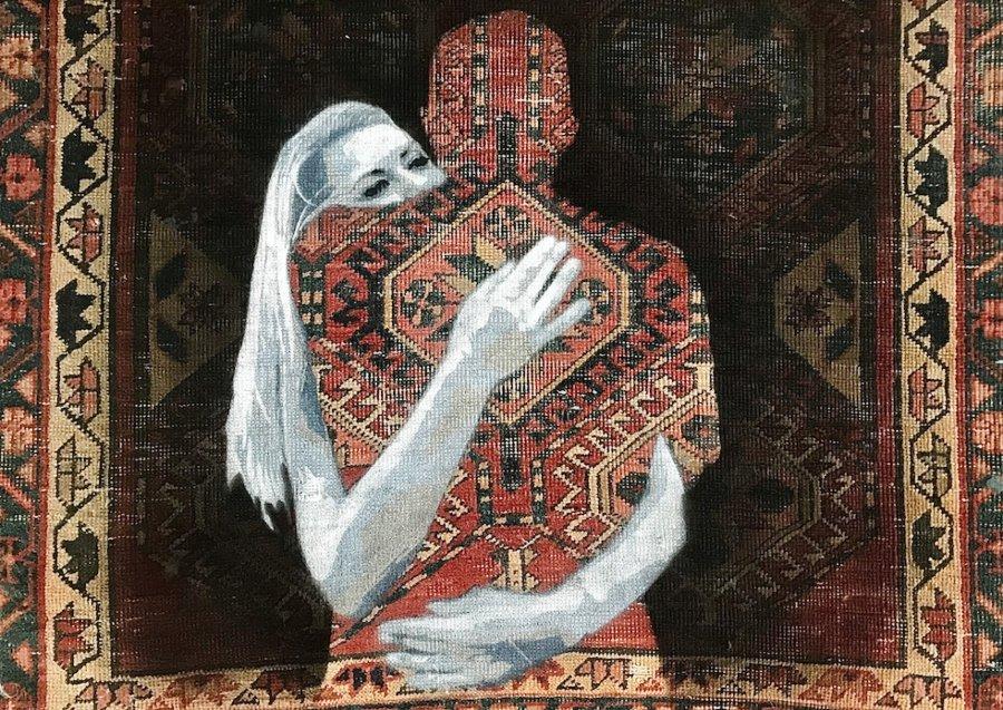 el artista israelí plasma posturas políticas en sus tapetes