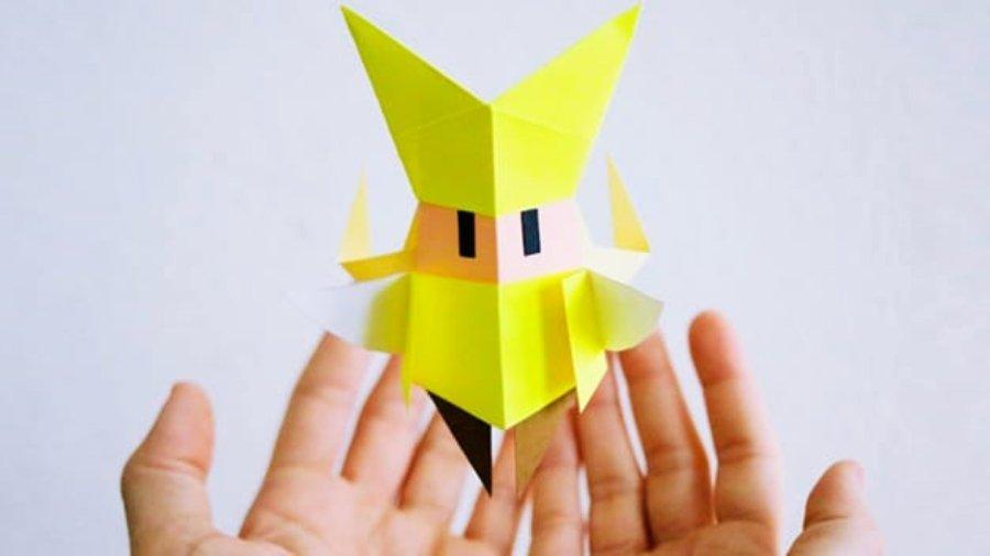 Figuras de origami con personajes de Nintendo
