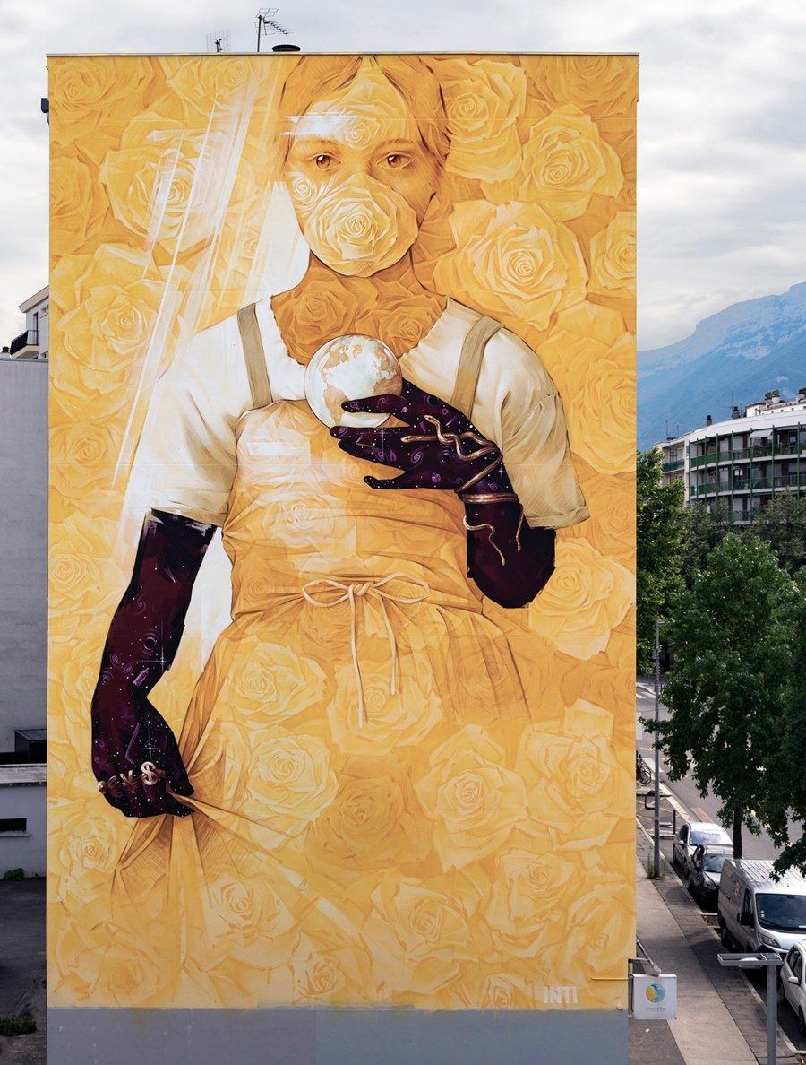 Nuevo mural de INTI para Grenoble Street Art Festival