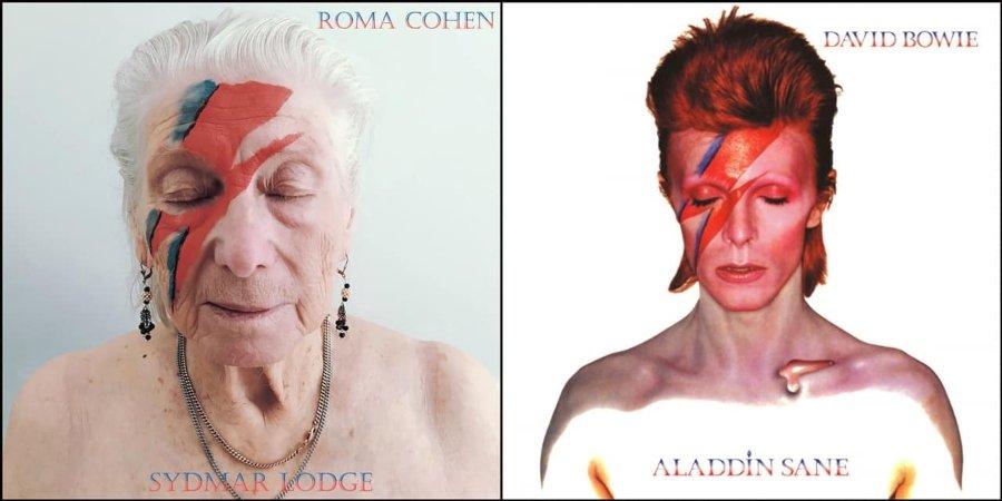 Robert Specker recreó portadas de discos con personas de la tercera edad