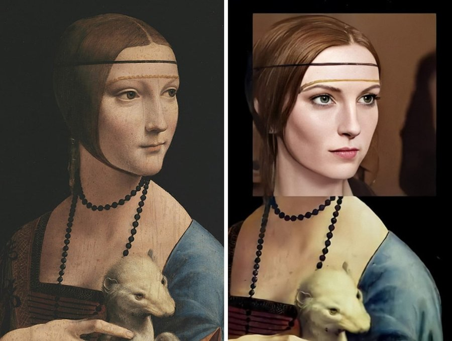 Leonardo da Vinci – Lady with an Ermine (1489-1490)