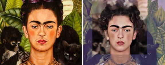 Rostros de pinturas famosas llevadas a la realidad