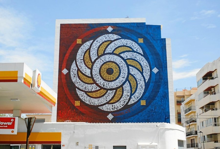 "Mural ""Entropy"" en Festival Bloop"