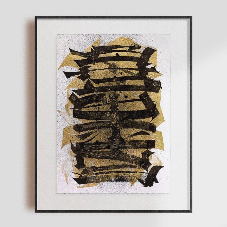 HOSTING 05. GHOSTING SERIES. Ink on 300 g Cotton Paper por Said Dokins
