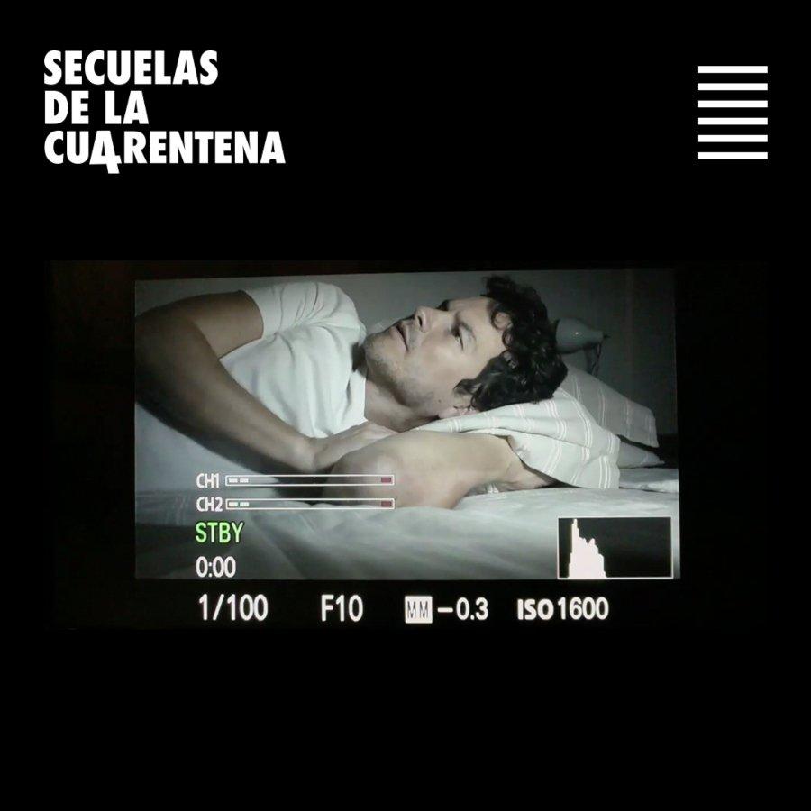 Proceso de grabación durante un cortometraje pertenciente a Secuencias de cuarentena