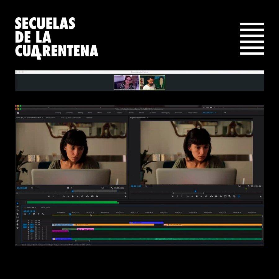 Proceso de edición de los cortometrajes de Secuencias de cuarentena