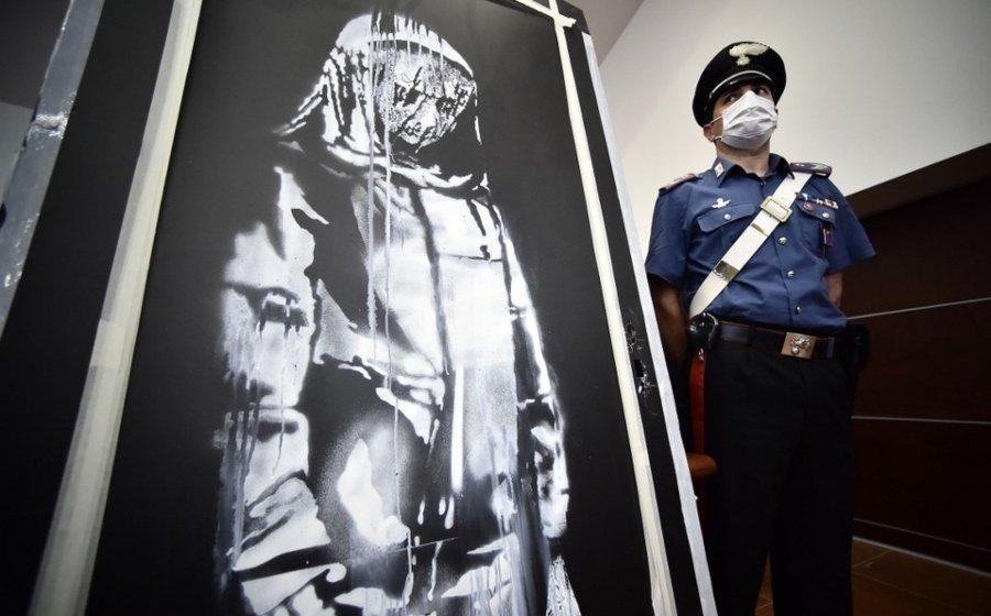 Seis sospechosos detenidos tras recuperar obra de Banksy
