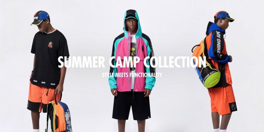 Atuendos de la colección Summer Camp de Bape