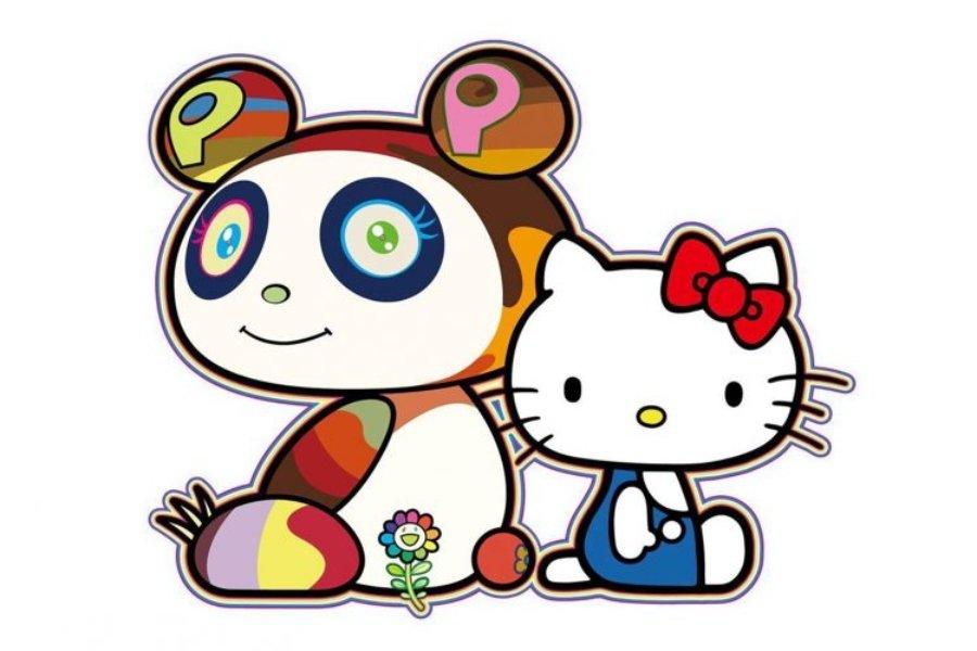 Ilustraciones de uno de sus personajes y de Hello Kitty que anunciaron la colaboración