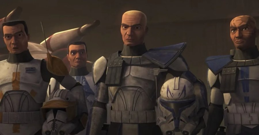Apariencia del escuadron clon The Bad Batch en The Clone Wars
