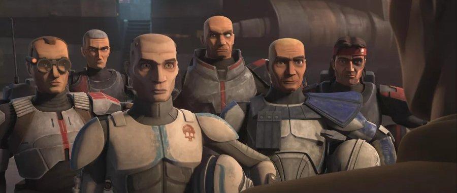 Apariencia del escuadron clon The Bad Batch en The Clone Wars