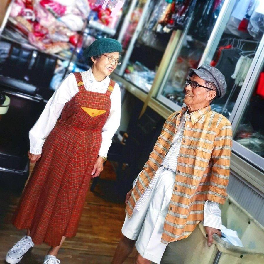 Want Show as Young, los abuelitos que visten a la moda con la ropa que dejan en su lavandería