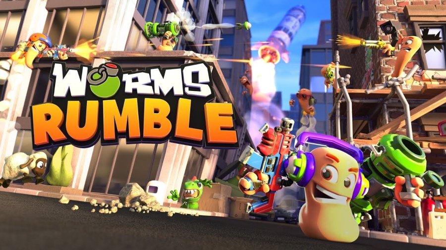 Portada oficial del nuevo videojuego Worms Rumble