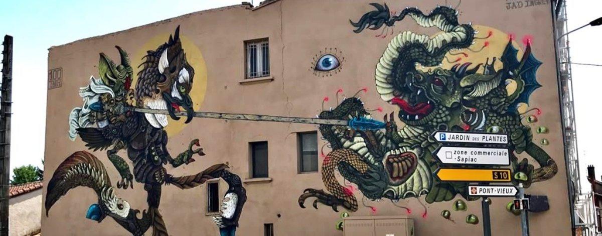 100Taur presentó un increíble mural en Francia
