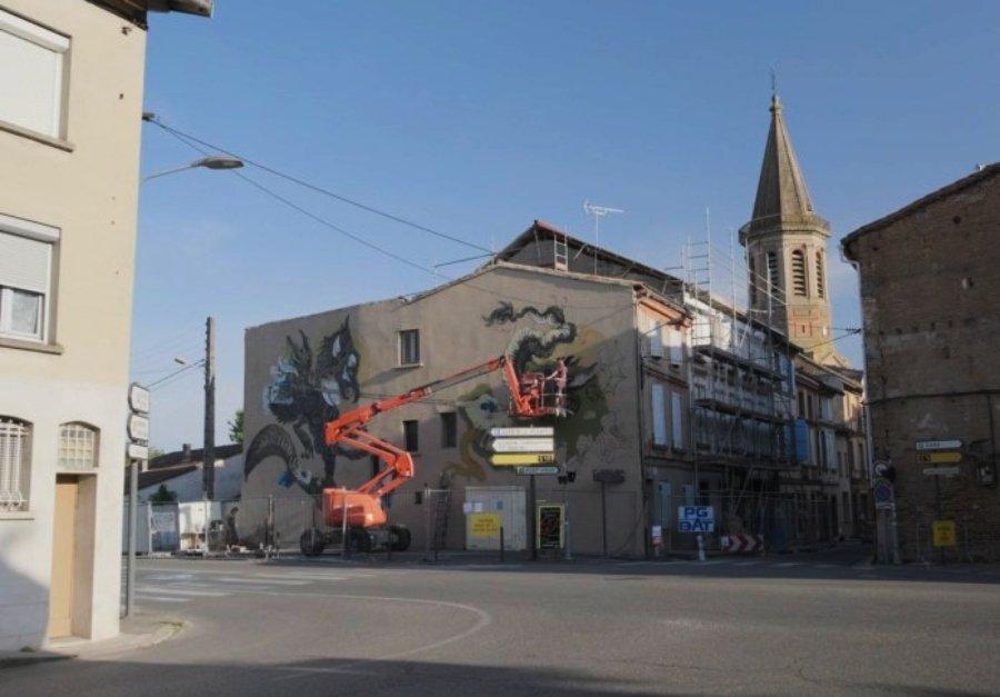 Proceso de creación del mural