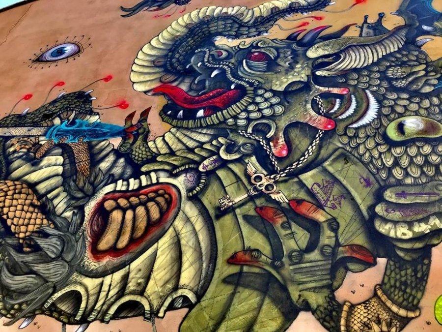"Mural ""Roger Delivrant Angelique"" por 100taur"