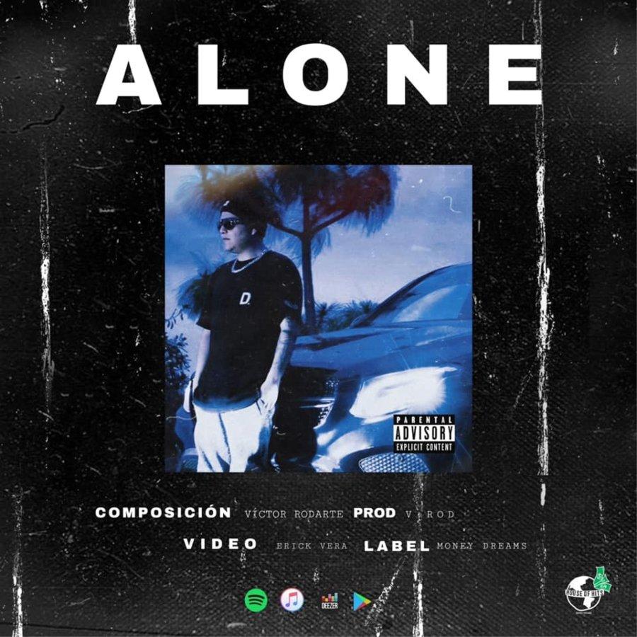 Portada del sencillo Alone de V. Rod
