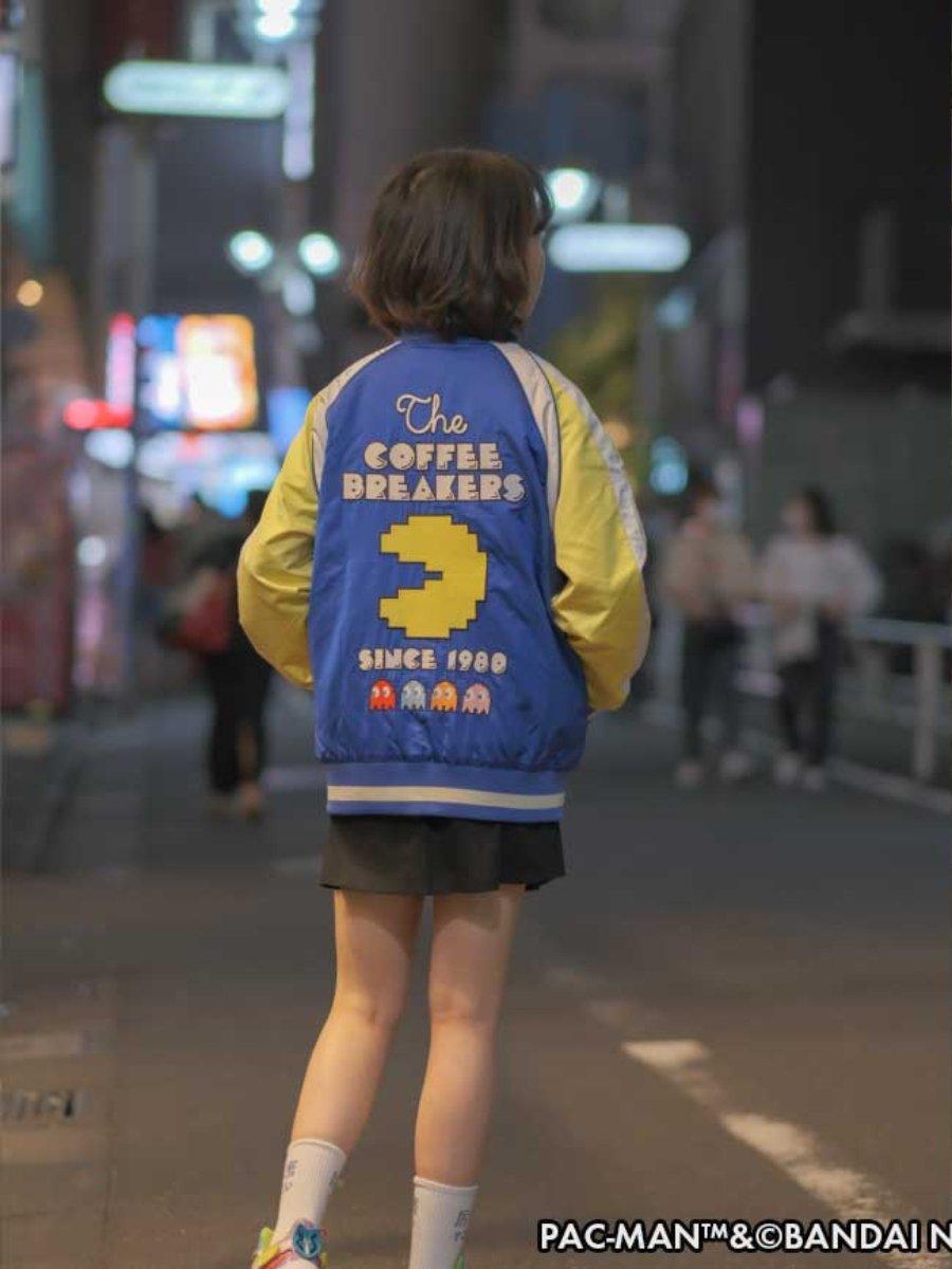Aspecto de la chaqueta oficial de Pac Man de Bandai Namco por el 40 aniversario del videojuego