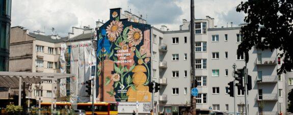 Dawid Ryski y Maciek Polak crean mural ecológico
