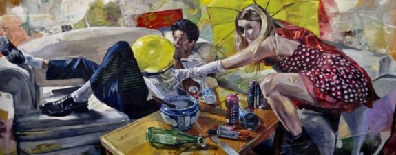 Drew Young y la oscura realidad plasmada en su pintura