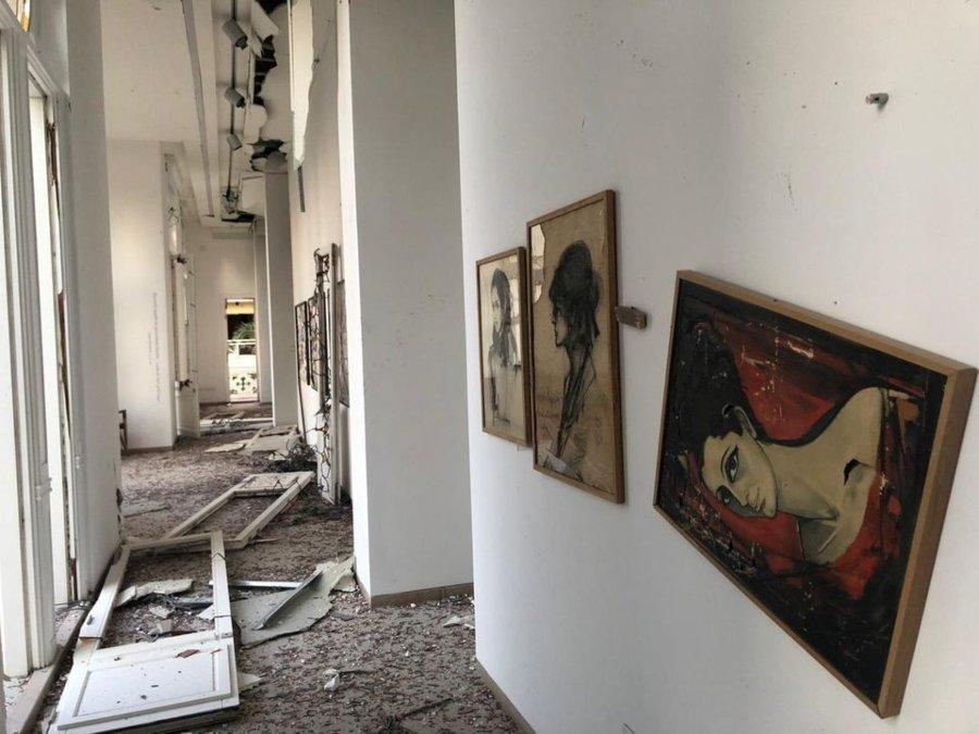 Museo Sursock afectado durante la explosión en Veirut