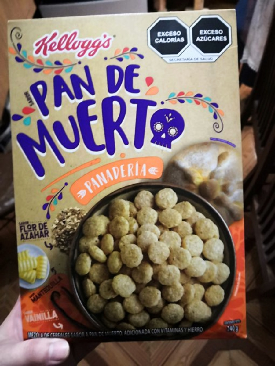 Cereal de Pan de Muerto de Kelloggs