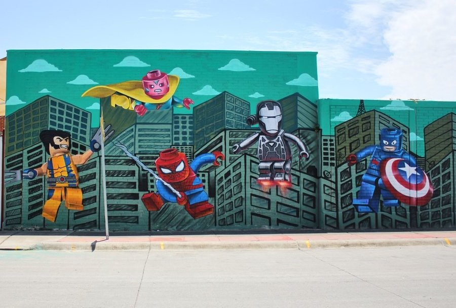 Mural de superhéroes Marvel
