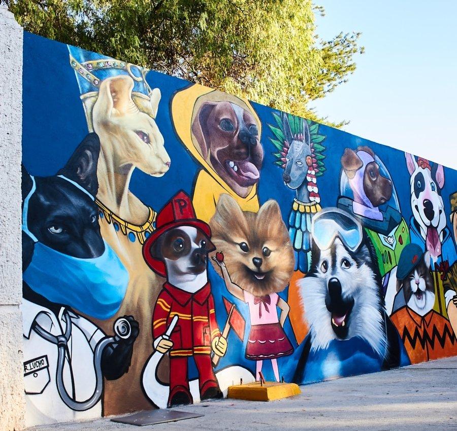 Mural de perros en León
