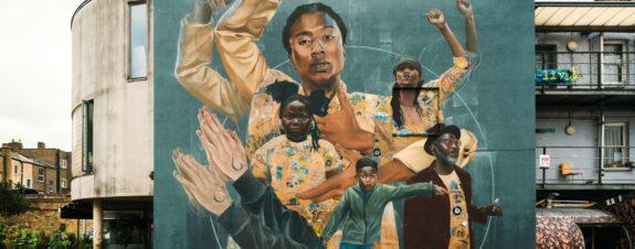 "Li Hill presentó su nuevo mural ""Gestures of a Square"""