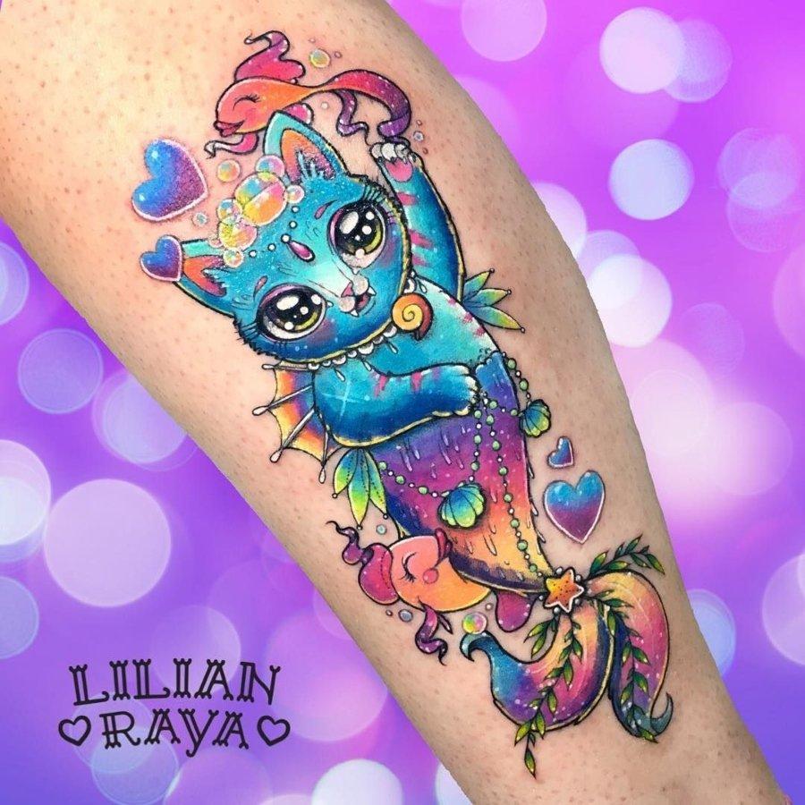 Lilian Raya y su diseño de gatito sireno