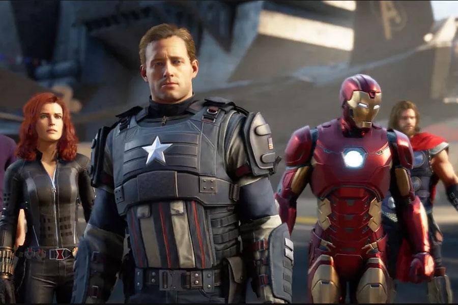 """Escena del videojuego """"Marvel Avengers"""""""