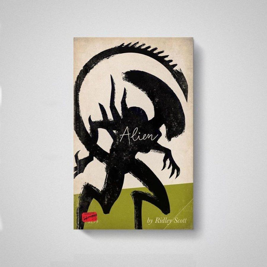 Portada de Alien en libro por Matt Stevens