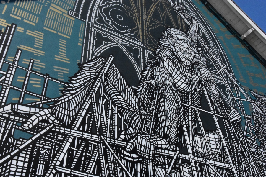 MonkeyBird y Telmo Miel presentaron nuevos murales