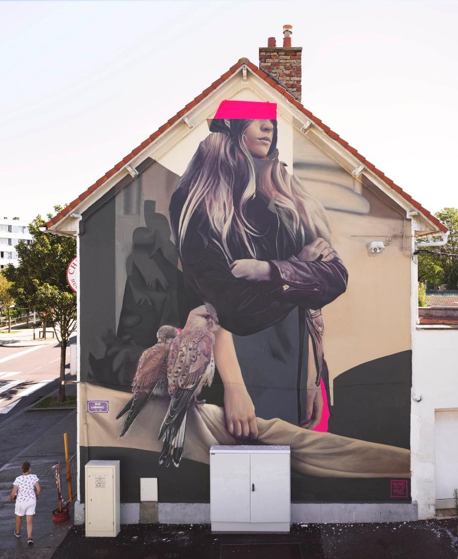 """Mural """"Gardien de Crécerelle"""""""