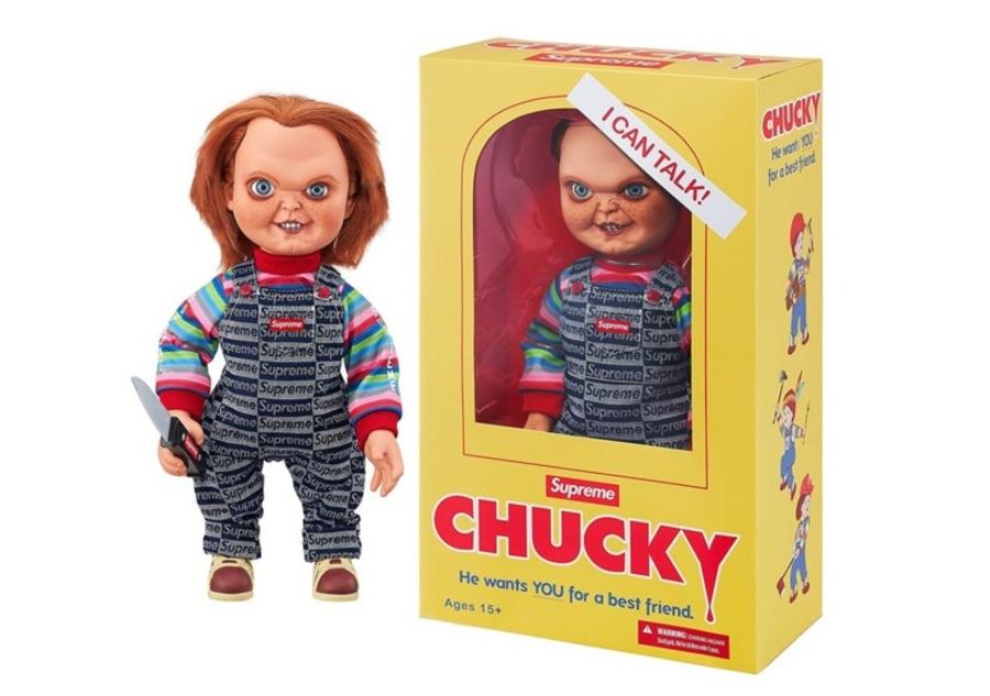 Muñeco Chucky de la temporada FW20 de Supreme