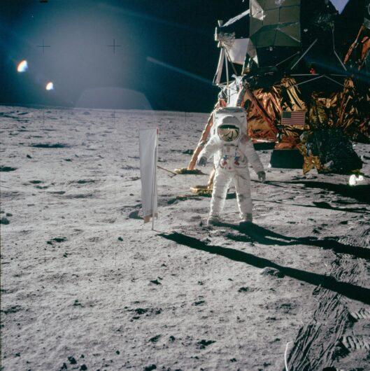 Fotografía tomada en las misiones Apollo publicada por la NASA