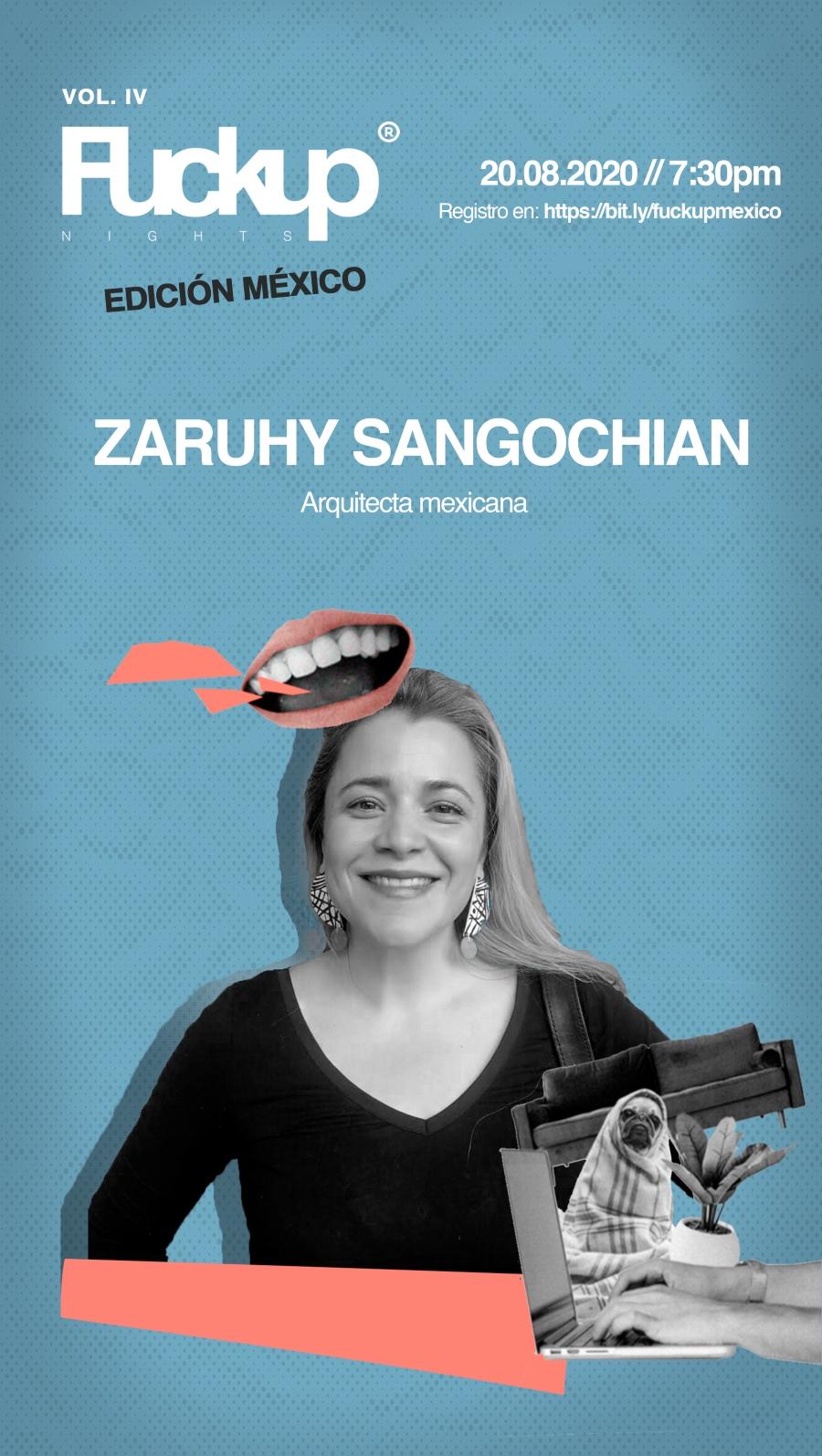 Próxima Fuckup Nights presenta a Zaruhy Sangochian