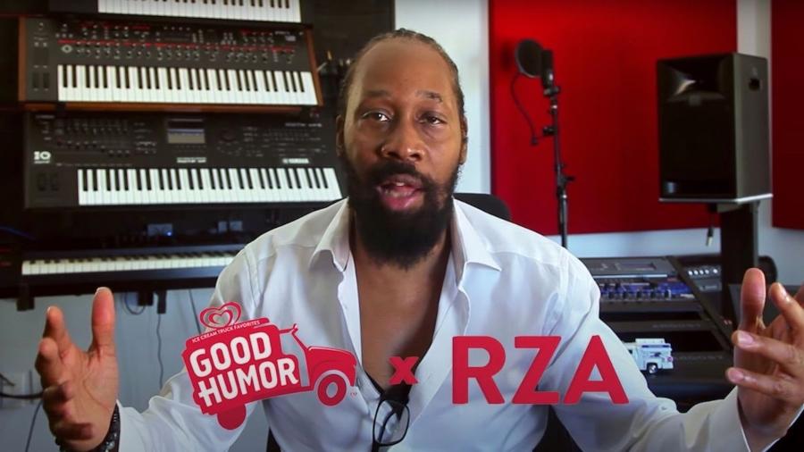 RZA en proceso de composición de la nueva canción de helados de good humor