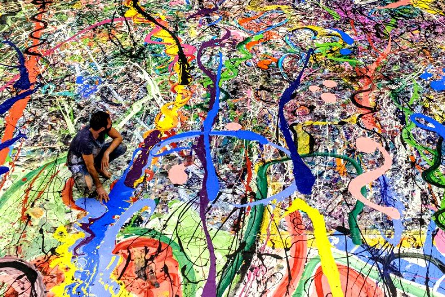 "Pintura ""The Journey of Humanity por Sacha Jafri"